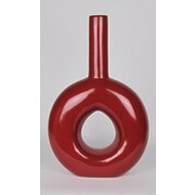 Metrotex Designs Gloss Ceramic Donut Table Vase