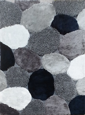 Rug Factory Plus Hand-Tufted Gray/Navy Area Rug