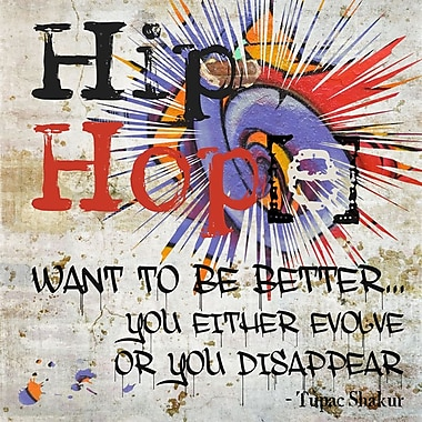 Graffitee Studios 'Hip Hope Evolve or Disappear' Graphic Art on Wrapped Canvas