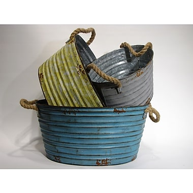 Wilco Home Oval Harvest Buckets (Set of 3)