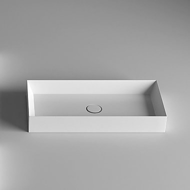 WS Bath Collections Track Vessel Bathroom Sink