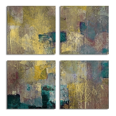 Ready2hangart Bueno Exchange XLVI' 4 Piece Painting Print on Wrapped Canvas Set