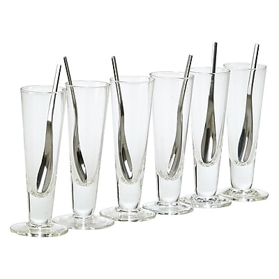 Creative Gifts International 12 Piece Tall Cups and Spoon Party Set WYF078277619846