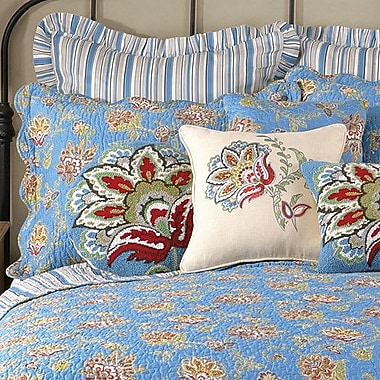 Laurel and Mayfair Jacobean Quilted Sham; Blue
