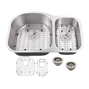 Soleil 31.5'' x 20.5'' Double Bowl Kitchen Sink