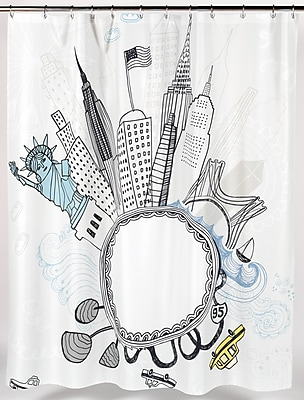 Ben and Jonah Funky City Shower Curtain