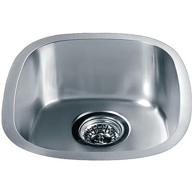 Dawn USA 15.06'' x 13.44'' Under Mount Single Bowl Kitchen Sink