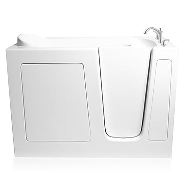 Ariel Bath 54'' x 30'' Whirlpool Bathtub; Right