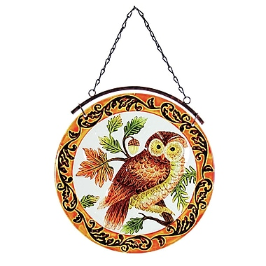 Exhart Owl Glass Suncatcher