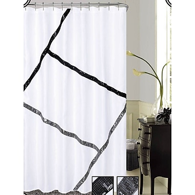 Dainty Home Florence Sequins Shower Curtain