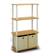 Furinno Go 43'' Etagere Bookcase (Set of 2); Beech