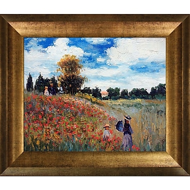 Tori Home Poppy Field in Argenteuil by Claude Monet Framed painting