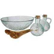 French Home 5 Piece Serving Bowl Set; Ice Clear