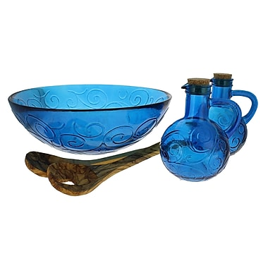 French Home 5 Piece Serving Bowl Set; Cornflower Blue