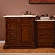 Silkroad Exclusive 57.5'' Single Sink Cabinet Bathroom Vanity Set