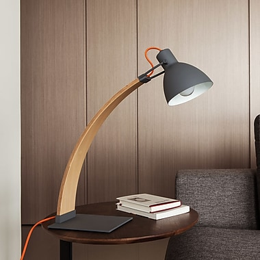 SeedDesign Laito 21.2'' Arched Table Lamp; Dark Grey