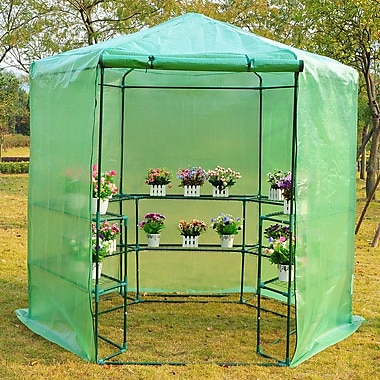Outsunny 6.42 Ft. W x 6.2 Ft. D Greenhouse
