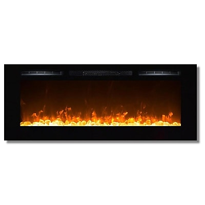 Gibson Living Sydney Crystal Wall Mount Electric Fireplace