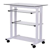 HomCom Mobile Office Writing Desk; White