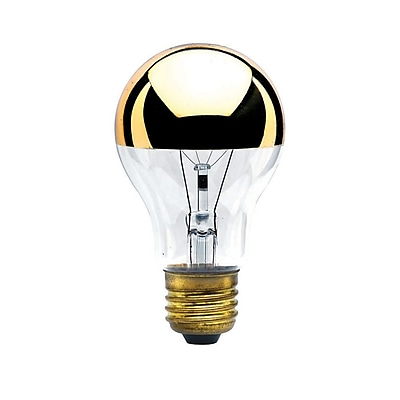 Bulbrite INC A19 60W Dimmable Half Gold 2700K Warm White 4PK (712416)