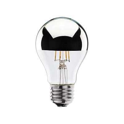 Bulbrite LED A19 4W Dimmable Half Chrome 2700K Warm White 2PK (776571)