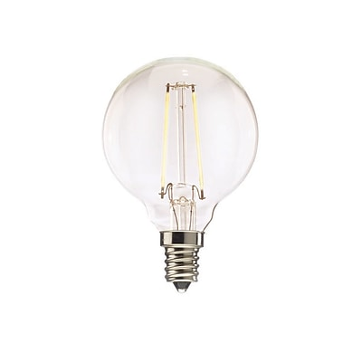 Bulbrite LED G16 2W Dimmable 2700K Warm White 2PK (776573)