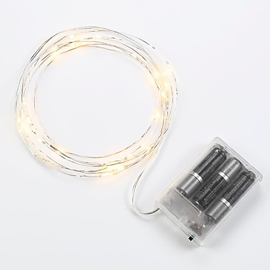 Bulbrite LED 1.5W Silver Battery Starry Lights 2700K Warm White 2PK (810060)