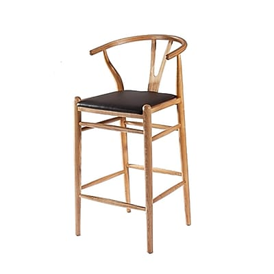 Fine Mod Imports Woodstring Bar Stool Chair, Natural (FMI10030-natural)