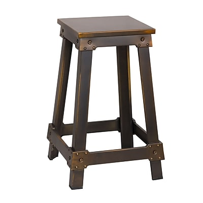 Fine Mod Imports Porch Counter Stool, Copper (FMI10232-copper)