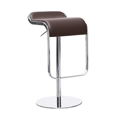 Fine Mod Imports Lem Bar Stool Chair, Brown (FMI1135-brown)