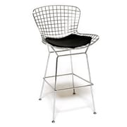 Fine Mod Imports Wire Bar Height Chair, Black (FMI1136-black)