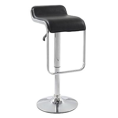 Fine Mod Imports Flat Bar Stool Chair, Black (FMI2124-black)