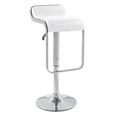 Fine Mod Imports Flat Bar Stool Chair, White (FMI2124-white)