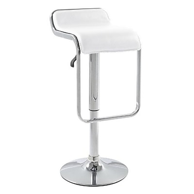 Fine Mod Imports Flat Bar Stool Chair, White (FMI2124-white)