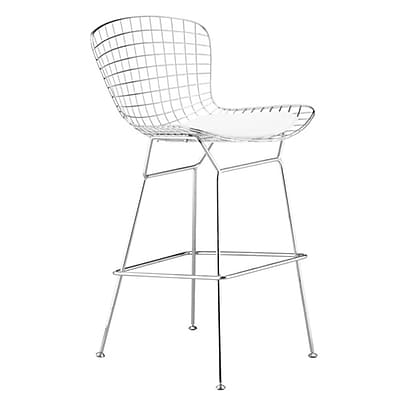 Fine Mod Imports Wire Counter Height Chair, White (FMI2126-white)