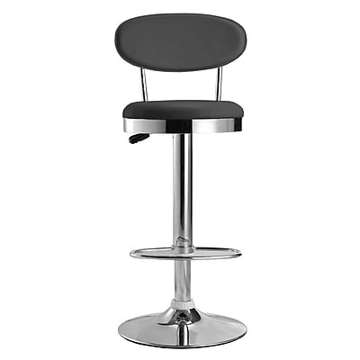 Fine Mod Imports Beer Bar Stool Chair, Black (FMI2210-black)