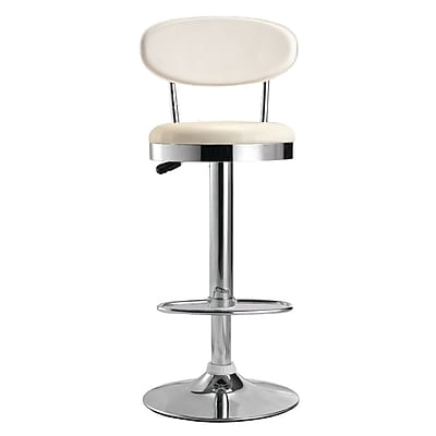 Fine Mod Imports Beer Bar Stool Chair, White (FMI2210-white)