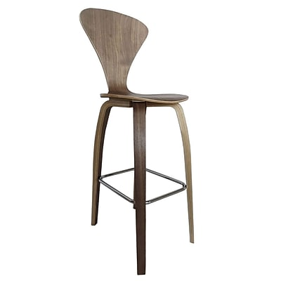 Fine Mod Imports Wooden Bar Chair 30