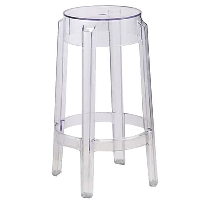 Fine Mod Imports Clear Counter Stool, Clear (FMI9275-clear)