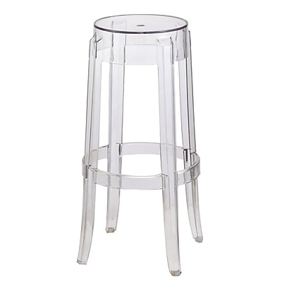 Fine Mod Imports Clear Bar Stool, Clear (FMI9276-clear)