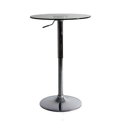 Fine Mod Imports Glass Bar Table, (FMI10166)