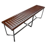 "Fine Mod Imports Solid Bench 60"", Brown (FMI10162-brown)"