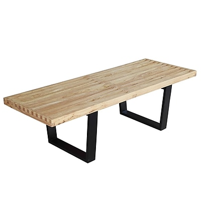 Fine Mod Imports Wood Bench 48