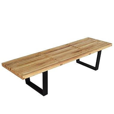 Fine Mod Imports Wood Bench 60