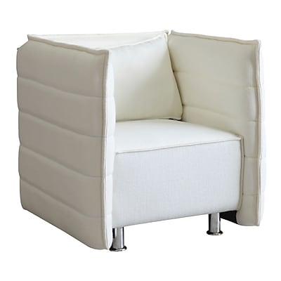 Fine Mod Imports Sofata Chair, White (FMI10185-white)