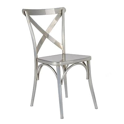 Fine Mod Imports Jenbo Dining Side Chair, Gunmetal (FMI10239-gunmetal)