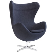 Fine Mod Imports Inner Chair Fabric, Black (FMI1129-black)