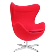 Fine Mod Imports Inner Chair Fabric, Red (FMI1129-red)