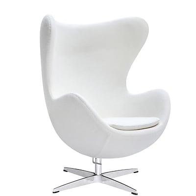 Fine Mod Imports Inner Chair Fabric, White (FMI1129-white)