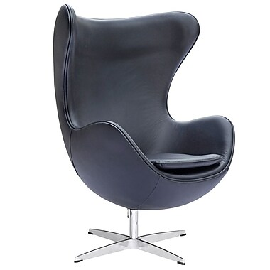 Fine Mod Imports Inner Chair Leather, Black (FMI1131-black)